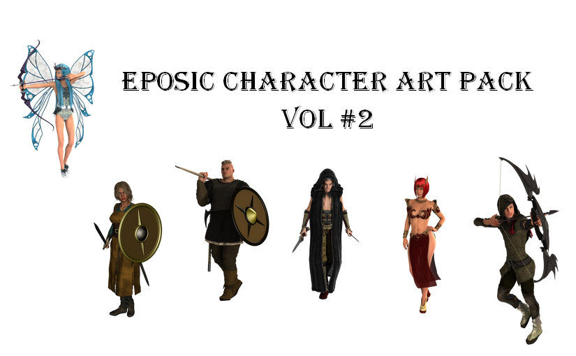 Eposic Character Art Pack Volume Number 2